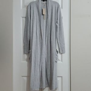 NWT Monk and Lou Langham Grey Long Cardigan xs